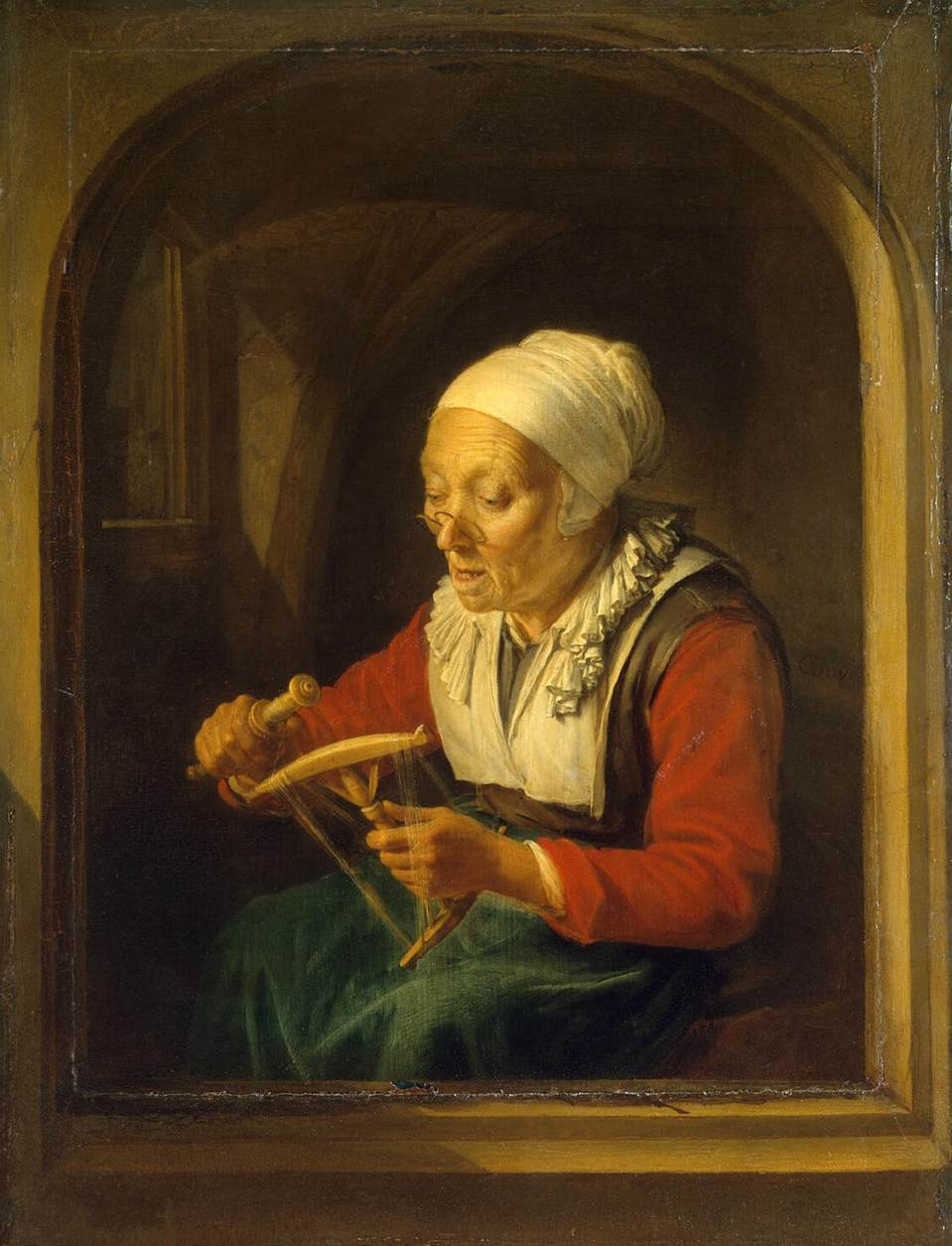 Gerard_Dou_-_Old_Woman_Unreeling_Threads_-_WGA06655