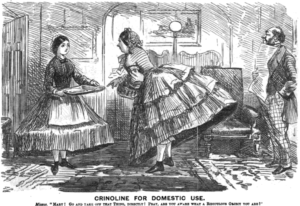 From Punch, Maid & Mistress in Crinolines